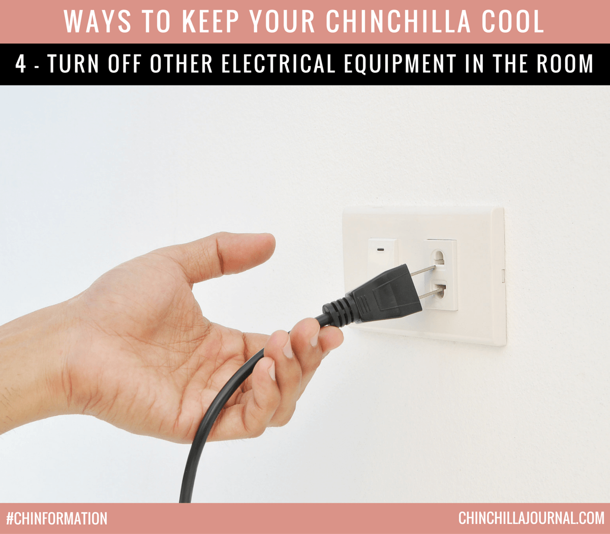 Ways To Keep Your Chinchilla Cool 4 - Turn Off Other Electrical Equipment In The Room